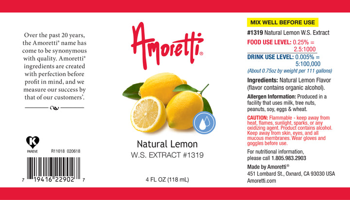 Natural Lemon Extract Water Soluble