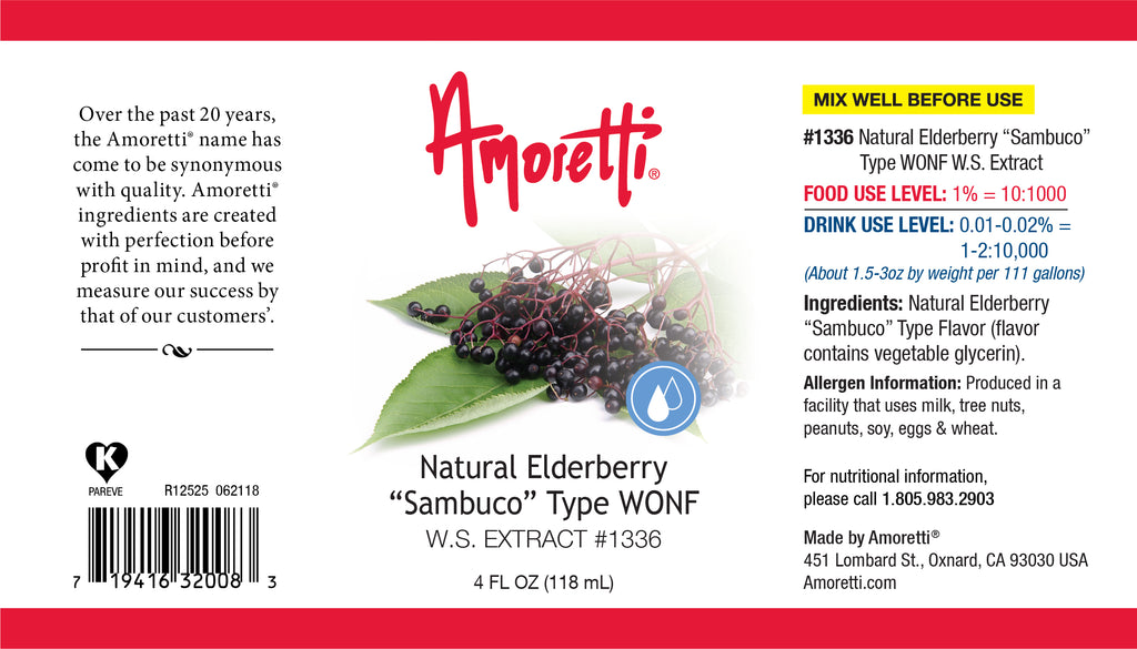 "Natural Elderberry ""Sambuco"" Type Extract Water Soluble"