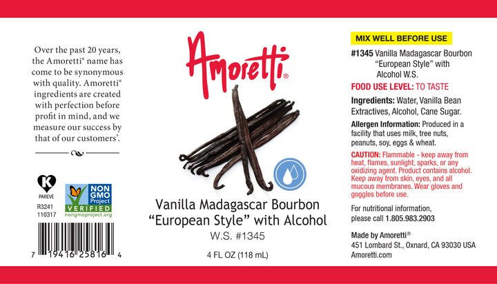 Vanilla Madagascar Bourbon European Style Water Soluble (with alcohol)
