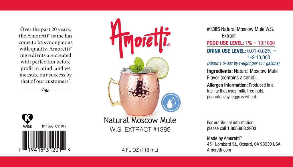 Natural Moscow Mule Extract Water Soluble