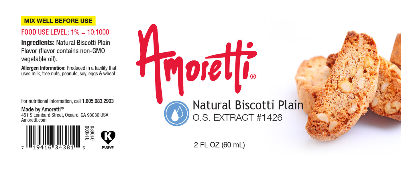 Natural Biscotti Plain Extract Oil Soluble