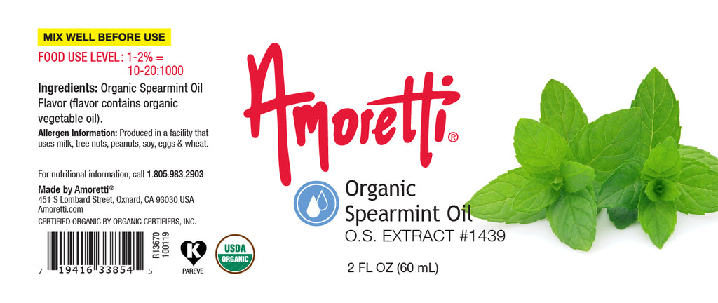 Organic Spearmint Oil Extract Oil Soluble
