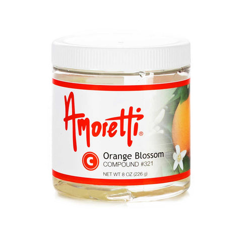 Amoretti Orange Blossom Compound not only has the citrus flavor of a fresh orange but it also has a deep floral note and a beautiful aroma.