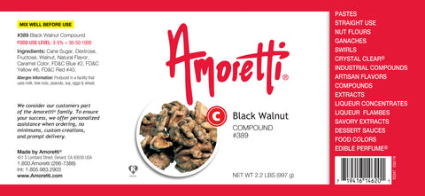 Amoretti Black Walnut Compound