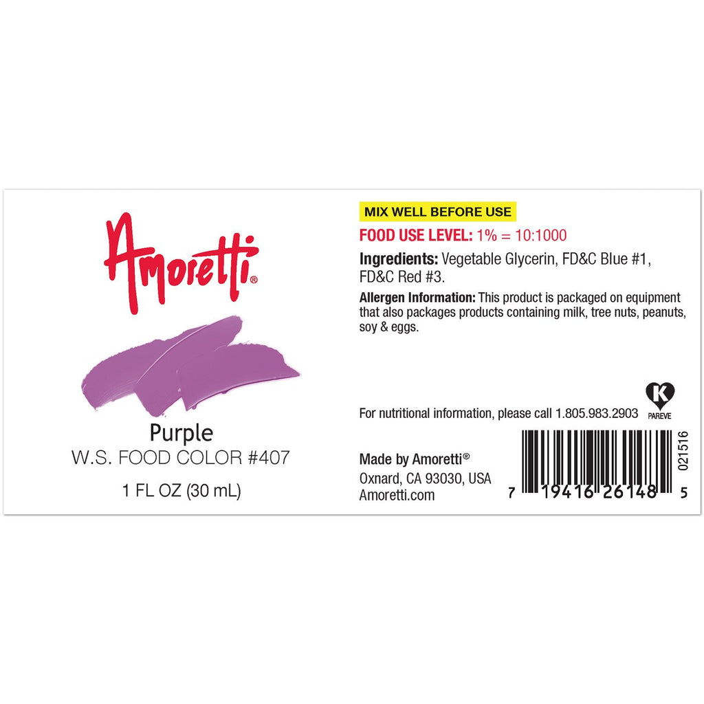 Amoretti Natural Purple Food Color W.S