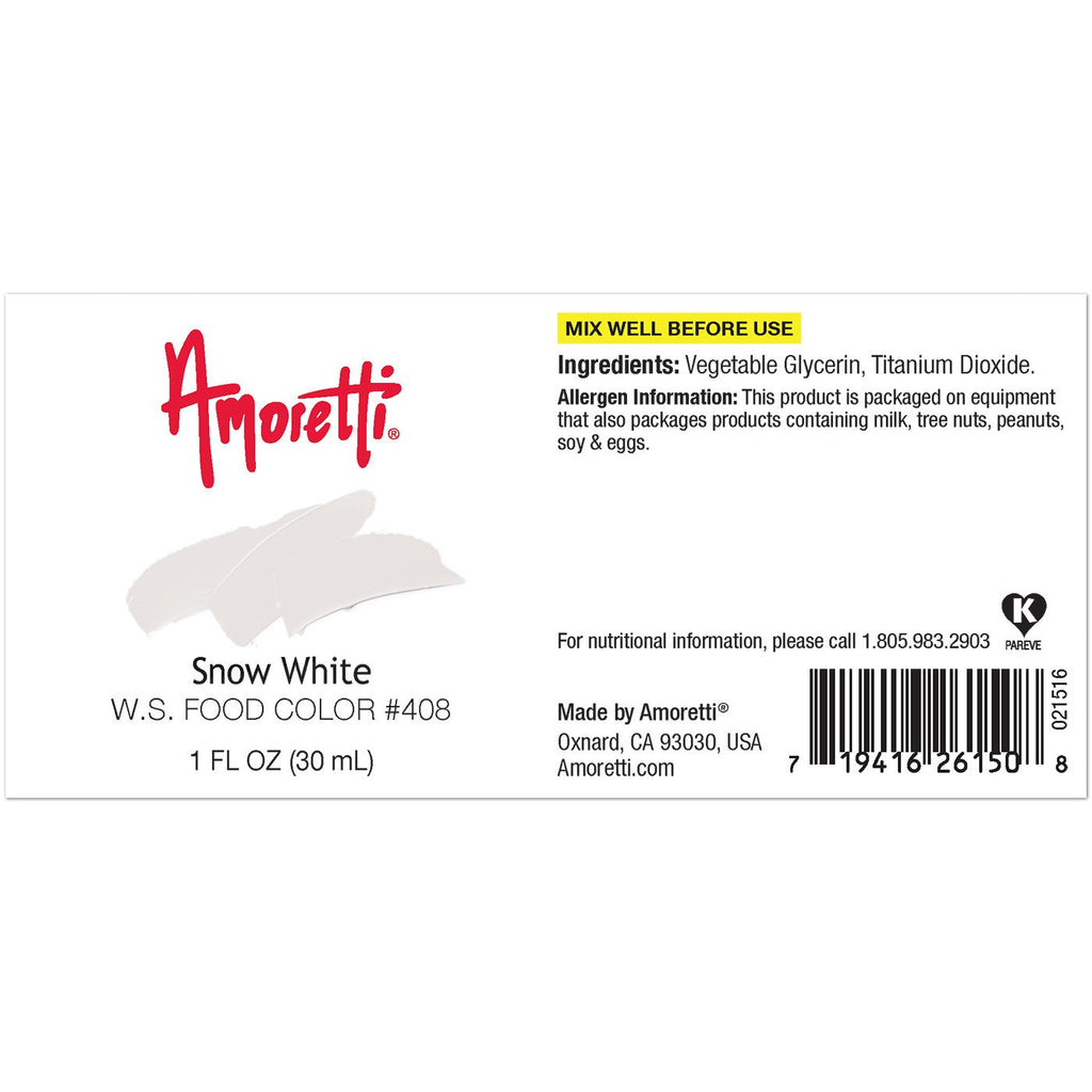 Amoretti Snow White Food Color W.S