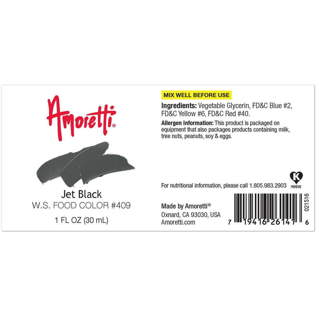 Amoretti Jet Black Food Color W.S