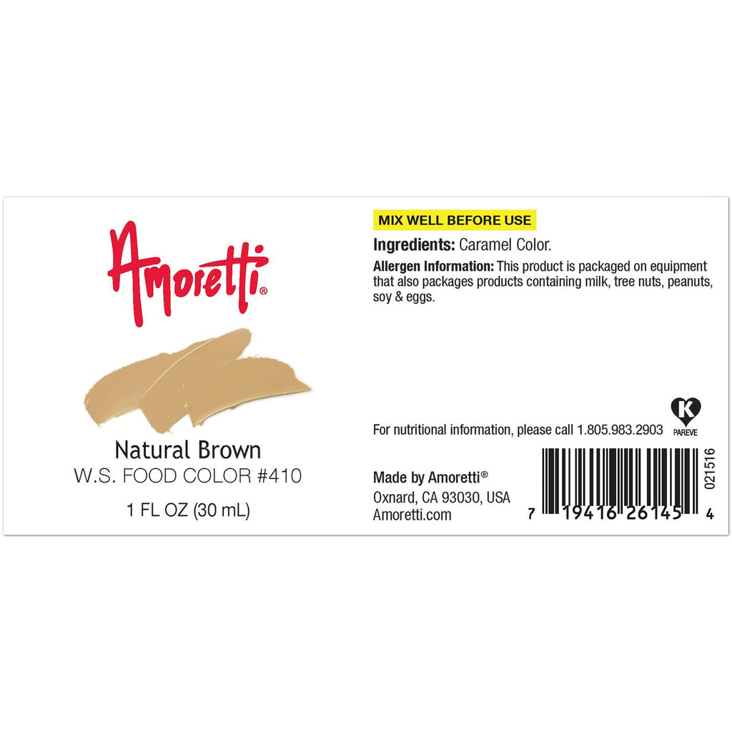 Amoretti Natural Brown Food Color W.S