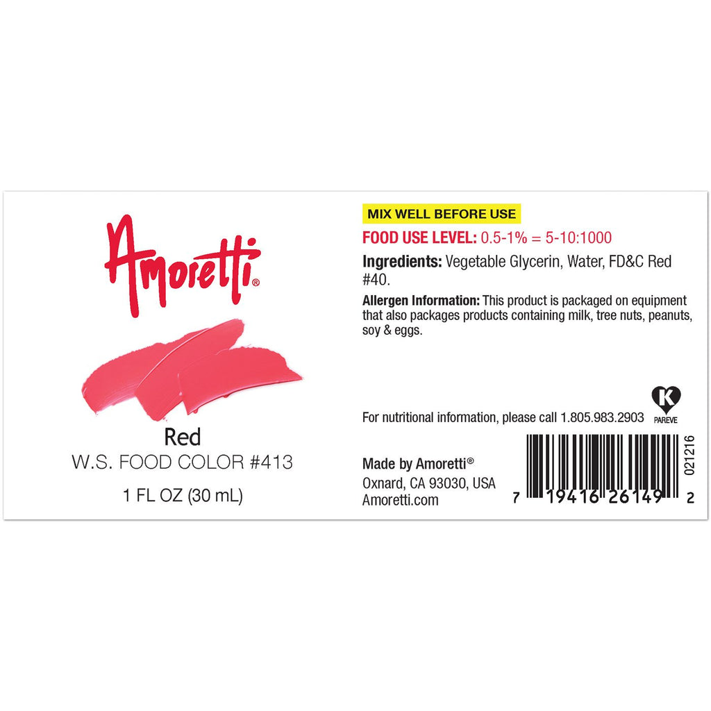 Red Food Color W.S – Amoretti