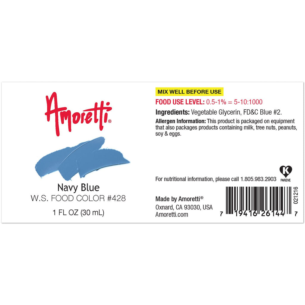 Amoretti Navy Blue Food Color W.S