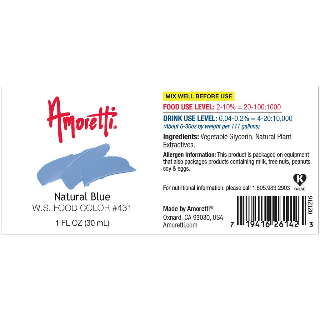 Amoretti Natural Blue Food Color W.S