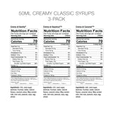 Creamy Classic Syrups 3 Pack