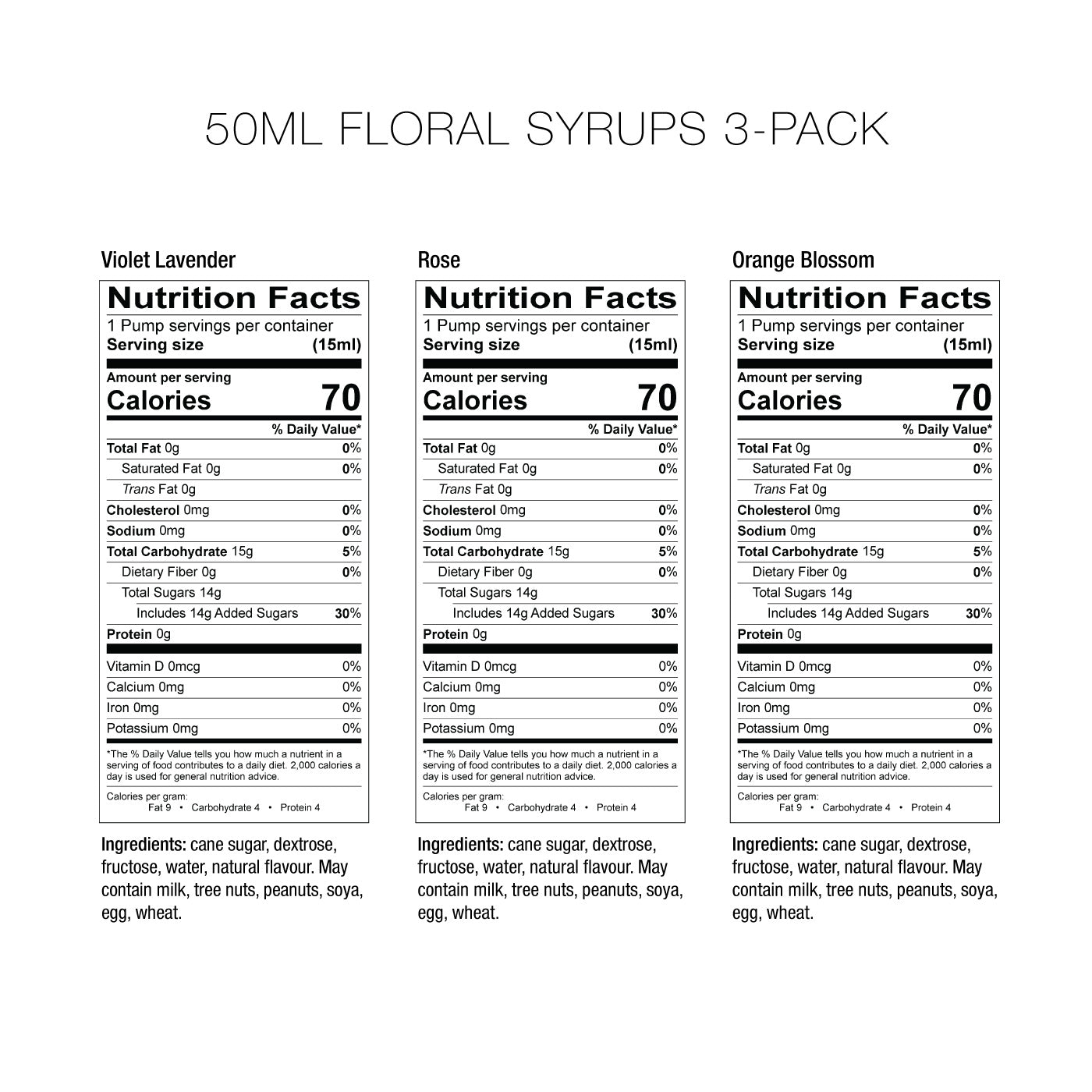 Floral Syrups 3 Pack