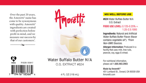 Amoretti Water Buffalo Butter Extract O.S.