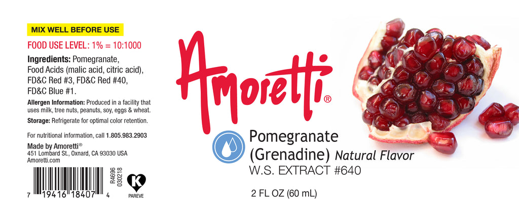 Pomegranate (Grenadine) Extract Water Soluble (natural flavor)