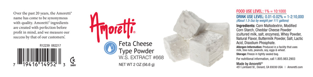 Feta Cheese Type Extract Powder Water Soluble