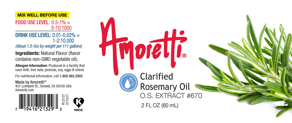 Clarified Rosemary Oil Extract Oil Soluble