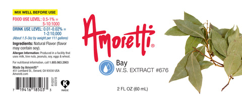 Amoretti Bay Extract W.S.