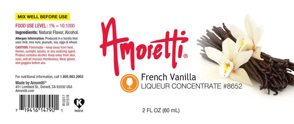 French Vanilla Liqueur Concentrate