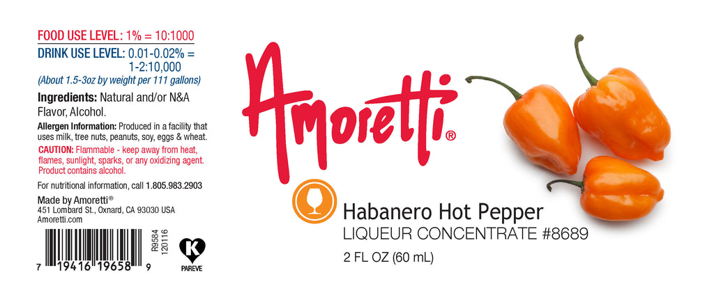 Habanero Hot Pepper Liqueur Concentrate