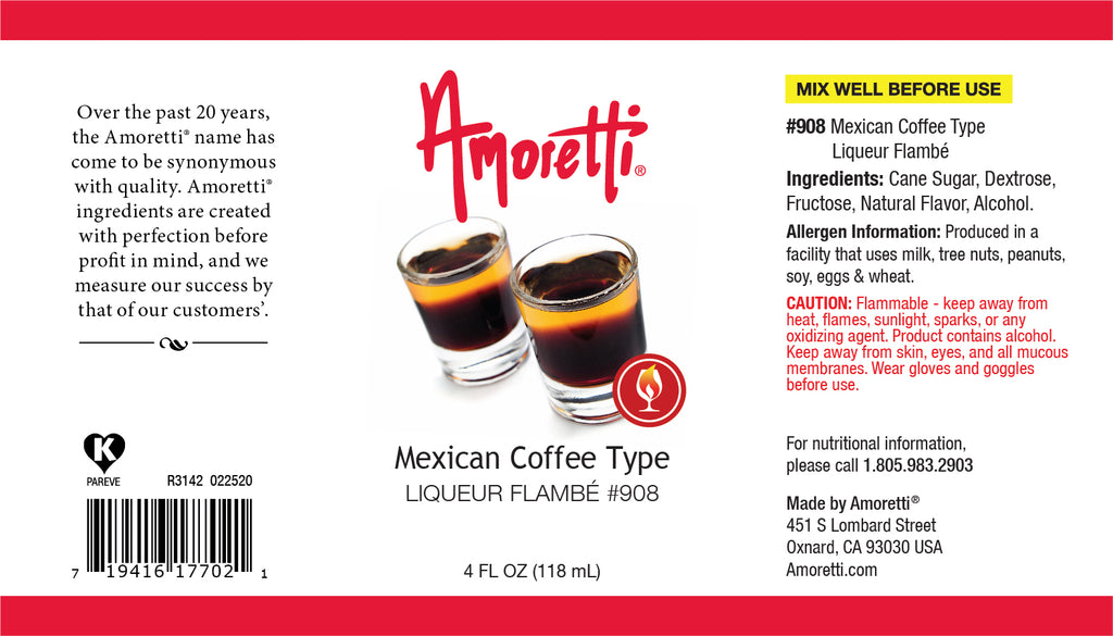 Mexican Coffee Type Liqueur Flambe
