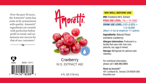 Amoretti Cranberry Extract W.S.