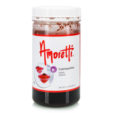Amoretti's Cosmopolitan Marbleizing Swirl lends a little kick to your recipes with the refreshing taste of lime and cranberry.