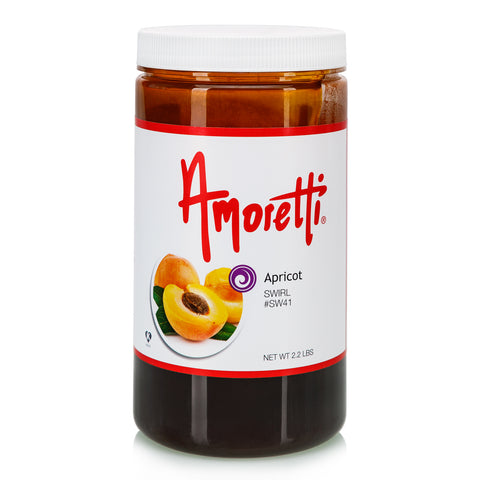 Amoretti's Apricot Marbleizing Swirl is deliciously sweet with a slight tart accent, like the first bite of a perfectly ripe apricot.