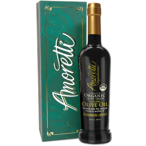 Amoretti Premium Organic Extra Virgin Finishing Olive Oil Gift Box