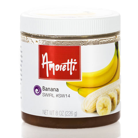 Amoretti's Banana Marbleizing Swirl brings the familiar taste of perfectly ripe bananas to the table.