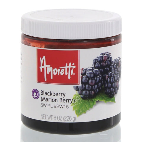Amoretti's Blackberry (Marionberry) Marbleizing Swirl gives any recipe a deliciously sweet-tart taste with the flavor of perfectly ripe marionberries.