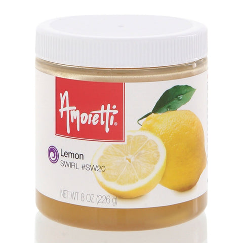 Amoretti's Lemon Marbleizing Swirl adds a delightful zing of citrus to your recipes with the taste of freshly picked lemons.