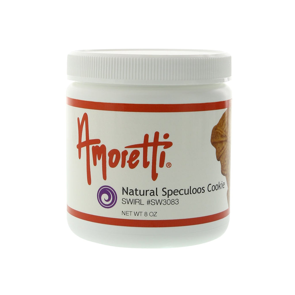 Amoretti Natural Speculoos Cookie Marbleizing Swirl