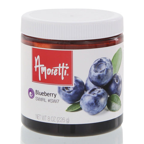 Amoretti's Blueberry Marbleizing Swirl celebrates the delicious things, like that first bite into a freshly picked blueberry.