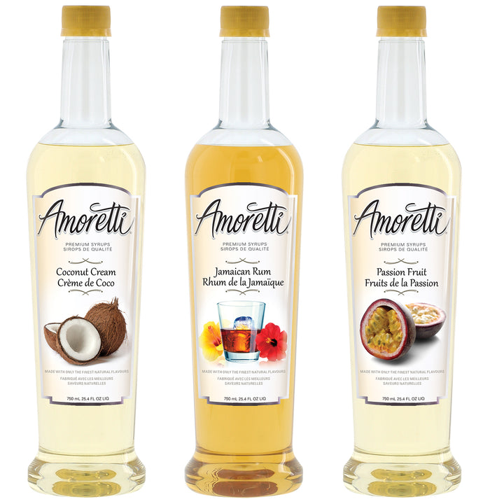 Amoretti Premium Tropical Syrups 3 Pack 50mL Syrups