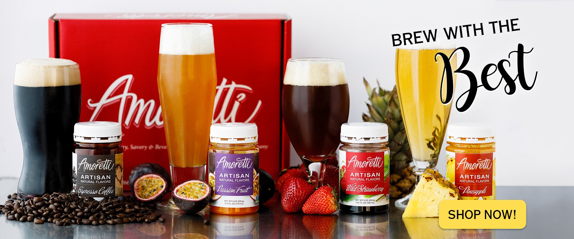 Brew with the best! Amoretti Artisan Natural Flavors