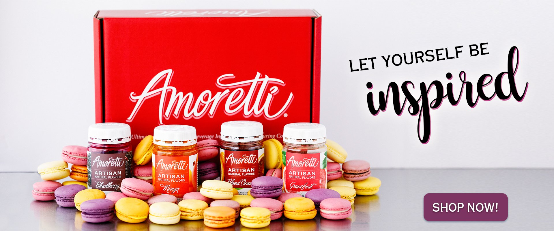 Let yourself be inspired with Amoretti Artisan Natural Flavors