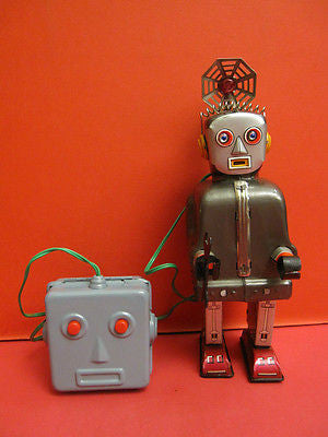 NOMURA RADAR ROBOT DARK GREY space tin toy MADE IN JAPAN 1956