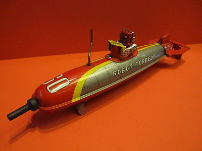 MARUSAN TORPEDO ROBOT Space Toy 1950