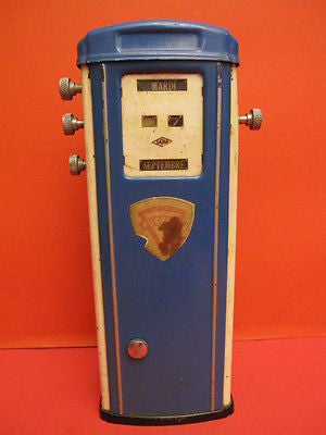 SATAM PURFINA GAS PUMP PETROL PUMP Gasoline tin toy 1950
