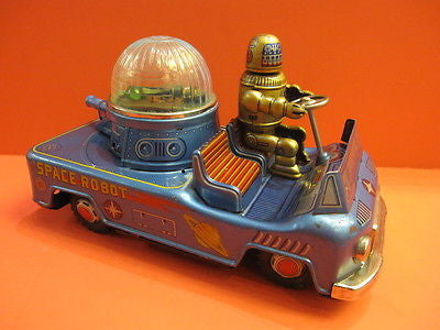 YONEZAWA SPACE ROBOT CAR GOLD ROBBIE space toy 1955