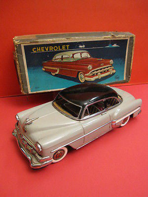 MARUSAN CHEVROLET 54 GREY + original box JAPAN 1955