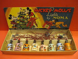 NOMA MICKEY MOUSE WALT DISNEY's MAZDA LAMPS Christmas tree set 1930