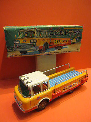 YONEZAWA LARGE FORD AIRPORT FLAT BED TRUCK + original box