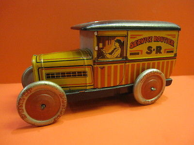 EGDA PEUGEOT 201 SERVICE ROUTIER SR french biscuit tin 1930