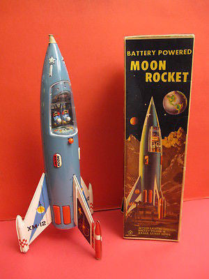 YONEZAWA MOON ROCKET XM12 + original box space toy robot