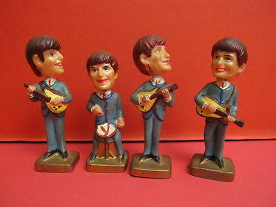 THE FAB 4 THE BEATLES HARD PLASTIC with moving heads Hong Kong