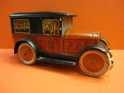 EGDA PEUGEOT 201 FIRE DEPARTMENT PARIS French biscuit tin 1930