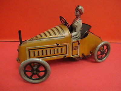 G&K GREPPERT & KELCH WIND UP CAR WITH WOMAN DRIVER Germany 1910