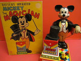 LINEMAR MICKEY THE MAGICIAN Battery operated + original box 1960